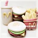 Q坊-樂活早餐組-漢堡薯條可樂-創意造型手工饅頭