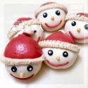 Q坊-創意聖誔系列_聖誔小雪人-全脂鮮奶造型手工饅頭