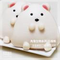 Q坊-角落生物- 北極熊(全脂鮮奶)創意造型手工刈包