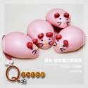 Q坊-鼠年-五行錢鼠之萌萌鼠-(草莓)手工創意造型饅頭