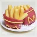 Q坊-樂活早餐-薯條造型南瓜泥手工饅頭