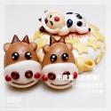 Q坊-客製化生肖主題-牛寶寶-卡通牛造型饅頭蛋糕(8吋)