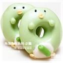 Q坊-角落生物-企鵝(淡抹茶)造型甜甜圈饅頭