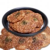 海苔芝麻薄片手工餅乾