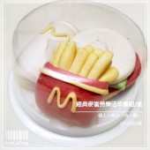 Q坊-樂活早餐組-漢堡薯條可樂(個人套組)-創意造型手工饅頭
