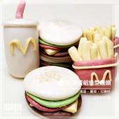 樂活早餐組擬真麥當勞之漢堡薯條及可樂造型手工饅頭