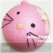 kitty_凱蒂貓_草莓手工創意造型饅頭