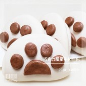 Q坊-創意造型刈包(割包)-巧克力貓掌牛奶刈包(割包)