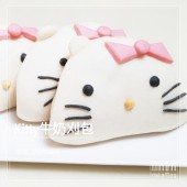 Q坊-造型刈包-凱蒂貓kitty牛奶造型刈包