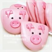 粉紅萌豬_創意造型刈包(割包)-草莓口味