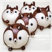 Q坊-廸士尼家族系列之花栗鼠-奇奇-(全脂鮮奶&純可可粉)手工創意造型饅頭