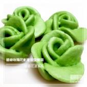 Q坊-戀戀花漾_碧綠玫瑰花創意造型手工饅頭