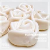 Q坊-戀戀花漾_雪白玫瑰花創意造型手工饅頭
