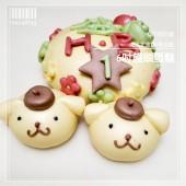 Q坊-狗寶寶客製化生肖-布丁狗造型饅頭蛋糕(6吋)