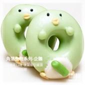 Q坊-角落生物-企鵝(淡抹茶)甜甜圈之收涎創意造型饅頭