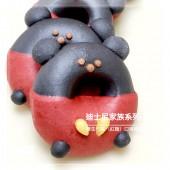 Q坊-廸士尼家族系列-經典米奇-(養生竹碳+穀類紅麴)造型甜甜圈饅頭