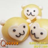 6運猴-金黃猴子_南瓜泥手工創意造型饅頭